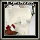 1500 Thread Count 4-Piece Egyptian Cotton Sheet Set - Ivory Plain
