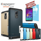 Genuine Spigen Slim Armor Case with Stand for Samsung Galaxy Note 4