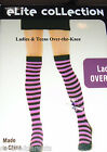 KNEE SOCKS  - LONG OVER-THE-KNEE – STRIPED - BRIGHT COLORS – TEENS – LADIES -NWT
