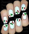 30 ITALIAN FLAG HEART LIPS BUTTERFLY NAIL ART DECALS STICKERS  PARTY FAVORS