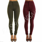 WOMENs Ladies JEANS HIGH WAISTED SKINNY JEGGINGs Coloured Stretch Pants UK 8-16