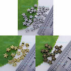 100pc Metal Tibetan silver Gold Bronze Star Charms spacer Loose beads 4.5mm P304