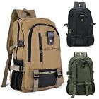 Men's Military Vintage Canvas Rucksack Backpack Hiking Camping Bag BTL8