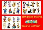 MICKEY MOUSE Clubhouse TEMPORARY TATTOOS X8  last 1 week+ waterproof choic 3 set