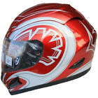 LEOPARD LEO-818 Scooter Motorcycle Motorbike Helmet Road Legal Red Graphic