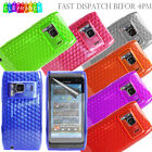 For NOKIA N8 Clear Hex Crystal Silicone Gel Phone Case Cover + Screen Protector