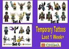 LEGO Legends of CHIMA kids WATERPROOF tattoos LAST1 WEEK loot bag 8 16 32 tattoo