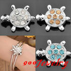 10pc Click Snap On Crystal Turtle Metal Button Fit Style Bracelet