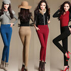 Girls 2 Pockets Womens High Waist Jeggings Casual Skinny Pencil Long Pants 917
