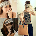 Chic Women Lady Lace Pearl Beads Headband Hairband Elastic Hair Head Band Pretty