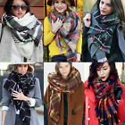 Fashion Blanket Oversized Tartan Scarf Wrap Shawl Plaid Cozy Checked Pashmina