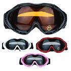 Double Lens Anti Fog Aerodynamic Foam Pad Snowboard Ski Protection Goggles