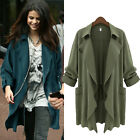 New Women's Long Sleeve Cardigan Trench Loose Casual Sweater Jacket Plus Size