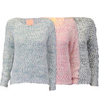 Ladies Jumpers Womens Knitted Top Pullover Sweater Mohair Plum Tree Winter New