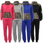 Girls Tracksuit Kids Jacket Bottoms Leopard Print 2 Piece Jogging Casual Winter