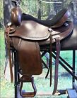 "TO108AB- HILASON TREELESS WESTERN TRAIL BARREL RACING SADDLE 16"" 18"""