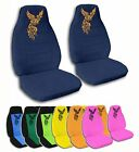 2 Front Phoenix Tattoo Velvet Seat Covers with 18 Color Options
