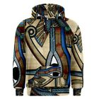 Ancient Egypt Eye of Horus Sublimated Sublimation Hoodie S,M,L,XL,2XL,3XL
