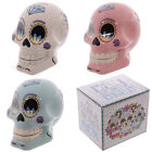 Day of the Dead Mexican Floral Skull Money Box Gothic Resin Ornament 12cm