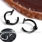 2X 16g Steel Fake Lip Ear Nose Stud Ring Clip Cuff Cartilage Septum Hoop Gothic