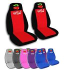 2 Front Wild Cherries Velvet Seat Covers with 11 Color Options