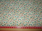 Green Paisley printed fabric 100% cotton poplin Fabric material