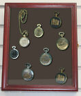 Display Case Shadow Box Cabinet  for Pocket Watches , Wood,  glass door, W-KC02
