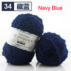HOT Super Soft Knitting Chunky Towelling Wool Ball Skeins Yarn Coral Velvet 50g