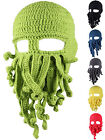 Unisex Men Women Tentacle Octopus Knit Beanie Hat Cap Mask Cosplay Funny Hat New