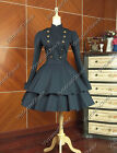 Victorian Gothic Lolita Military Dress Theatre Clothing Steampunk Cosplay C022