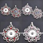 1pc Crystal Carved Vines Crystal Pendant Fit Button Snap Charms DIY