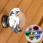 5 Crystal Knobs Glass Pull Handle For Door/Cabinet/Drawer/Wooden Box/Shower Room