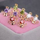 1 Pair Angel Zircon Earrings Gold Plated Earrings Ear Stud New Stud Earrings