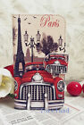 Paris Eiffel Tower & Retro Classic Car Leather case/skin for Samsung iPhone iPod