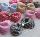 10/30/120pcs Padded Ribbon Bow polyester ornament Appliques Hairband Wedding E67