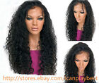 Women Soft Brazilian kinky Curly 100% Human Remy Hair Front Lace Wig Baby Hair