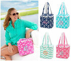 PERSONALIZED MONOGRAM INSULATED COOLER LUNCH BEACH TOTE SEAHORSE or PINK  ANCHOR