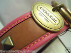NEW COACH BRIGHT PINK PYRAMID STUD ALL THICK LEATHER SMALL MEDIUM DOG COLLAR S