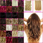"""20"""" & 23"""" ONE PIECE Clip In Hair Extensions Curly Wavy Straight All Colours"""