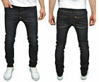 Mens Designer Foray Jeans Super Skinny Stretch Slim Fashion Brooker Dark Denim