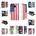 For Motorola Moto X (2nd Generation, 2014) Flip Credit Card Wallet Case + Screen