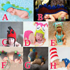 Newborn Baby Multi-colored Hat Clothes Crochet Knitted Photography Photo Prop UK