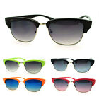Color Half Rim Retro Style Horn Rim Sunglasses (5 colors)