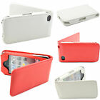 Leather Skin Cell Phone Shell Protective Flip Case Cover For Apple iPhone 4S 4G