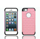 Luxurious Sparkly Studded Bling Diamond Hybrid Case Cover For iPhone 5 5s SE