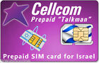Cellcom Israel Prepaid SIM Card - Prepaid SIM Card for Israel from Cellcom