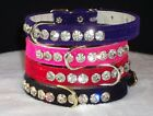 Rhinestone Dog Collars with BIG Bling Crystals 3 Small pet sizes Stunning Bling!