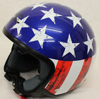 LS2 OF561 Wave Raw Stars Stripes Custom Helmet Cruiser Chopper Bobber + freebies