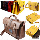 LEATHER Vintage Satchel Men's Women's NEW Briefcase Messenger School Bag Handbag