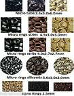 100 ANNEAUX MICRORINGS RINGS POUR POSE EXTENSIONS A FROID LIVR EXPRESS 24-48H